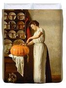 Cutting The Pumpkin Duvet Cover