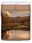 Cuyahoga Valley Autumn Sunset Duvet Cover