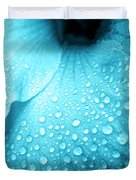 Aqua Droplets Duvet Cover