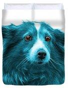 Cyan Shetland Sheepdog Dog Art 9973 - Wb Duvet Cover