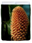 Cycad Cone Duvet Cover