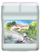Cycling In Italy 01 Duvet Cover
