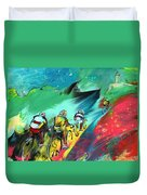 Cycling In Majorca 01 Duvet Cover