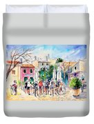 Cycling In Majorca 05 Duvet Cover