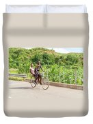Cycling In Malawi Duvet Cover