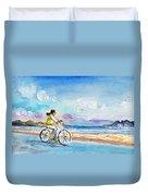 Cycling In Port De Pollenca In Majorca Duvet Cover