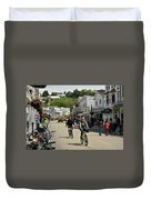 Cycling The Island Duvet Cover