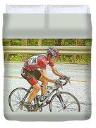 Cyclist Duvet Cover