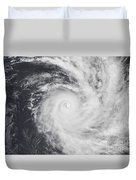 Cyclone Zoe In The South Pacific Ocean Duvet Cover
