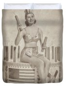 Cyd Charisse Hollywood Actress, Pinup And Dancer Duvet Cover