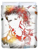 Cyndi Lauper Watercolor Duvet Cover
