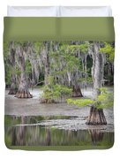Cypress And Spanish Moss Of Caddo Lake State Park 4 Duvet Cover