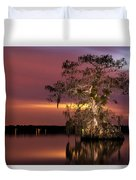 Cypress At Twilight Duvet Cover