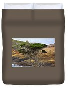 Cypress Tree In Point Lobos State Reserve Near Monterey-california  Duvet Cover