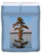 Cypress Tree On Reelfoot Lake Duvet Cover