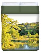 Cypress Trees Along The Guadalupe Duvet Cover