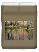 Cypress Trees Along The Hillsborough River Duvet Cover