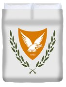 Cyprus Coat Of Arms Duvet Cover