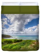 Cyprus Spring Seascape And Landscape Duvet Cover