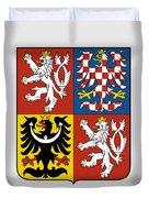 Czech Republic Coat Of Arms Duvet Cover