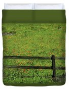 D7b6306 Fence And Poppies Duvet Cover