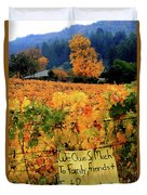 D8b6314 Autumn At Jack London Vinyard With Thanks To Firefighters Ca Duvet Cover