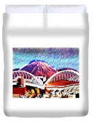 Da Mountain And Stadia 2 Duvet Cover