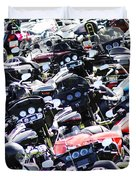 Harley-davidson Rally Duvet Cover