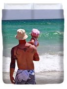 Dad And Daughter Duvet Cover
