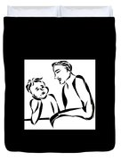 Dad And Son Duvet Cover