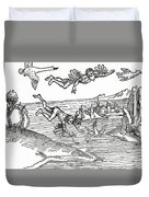 Daedalus And Icarus Duvet Cover