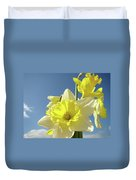 Daffodil Flowers Artwork Floral Photography Spring Flower Art Prints Duvet Cover