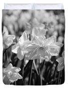 Daffodil Glow Monochrome By Kaye Menner Duvet Cover
