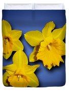 Daffodil Trio Duvet Cover