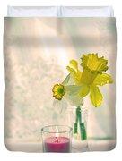 Daffodils And The Candle V3 Duvet Cover