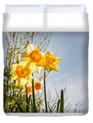 Daffodils Backlit Duvet Cover