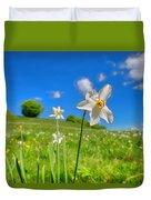 Daffodils Blossimg At Cavalla Plains 2017 II - Fioritura Dei Narcisi Al Pian Della Cavalla 2017 Duvet Cover