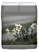 Daffodils Desaturated Duvet Cover