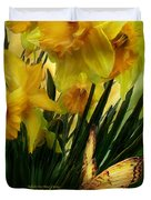 Daffodils - First Flower Of Spring Duvet Cover