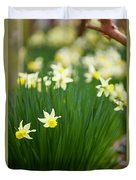 Daffodils In A Bunch Duvet Cover