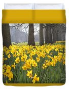 Daffodils In St James Park London Duvet Cover