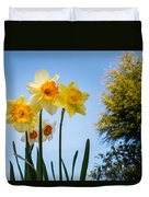 Daffodils In The Sky Duvet Cover