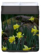 Daffodils In The Smokies Duvet Cover