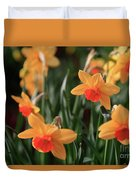 Daffodils Duvet Cover by Tracy Hall