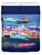 Daggers Over Madison In Oil Duvet Cover
