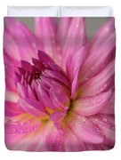 Dahlia After The Rain Duvet Cover