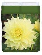 Dahlia Blossom Yellow Duvet Cover