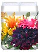 Dahlia Bouquet Duvet Cover
