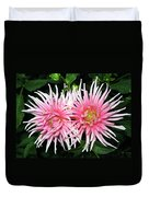 Dahlia Duo Duvet Cover