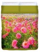 Dahlia Farm Duvet Cover